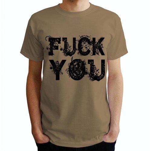 Fuck you Herren T-Shirt Beige