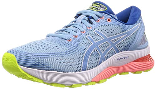 ASICS Damen Gel-Nimbus 21 Laufschuhe, Blau (Heritage Blue/Lake Drive 402), 40 EU - Winter Asics Running Shoes