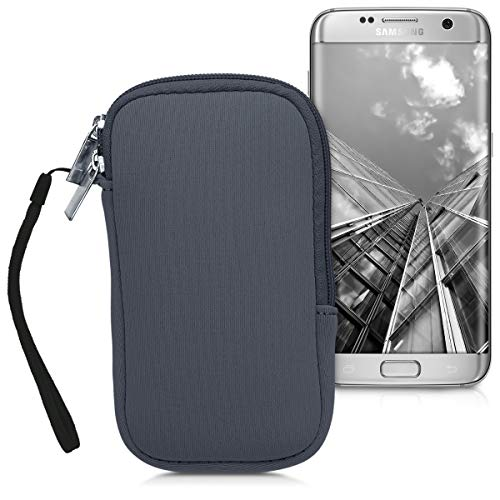 kwmobile Funda para móviles de M - 5,5' - Estuche de [Neopreno] con [Cierre]...