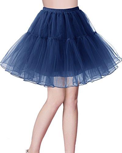 Petticoat Rock 1950er Vintage Tutu Ballett Unterkleid Navy M ()