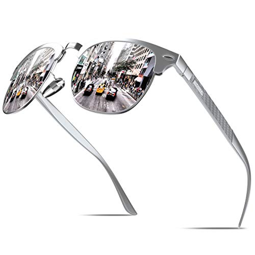 KITHDIA Polarisiert Sonnenbrille Herren/Damen Aluminium Magnesium Ultraleichten Metallrahmen