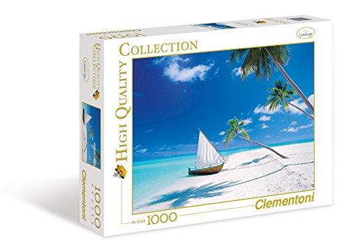 Clementoni 39256 - puzzle maldive islands, collezione alta qualità, 1000 pz.