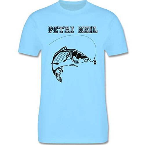 Angeln - Petri Heil - Herren Premium T-Shirt Hellblau