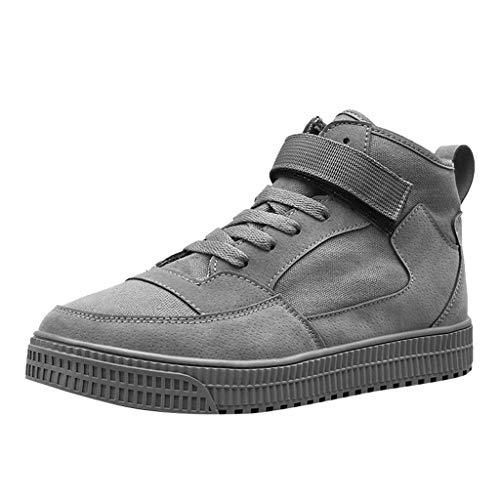 FiveFeedback Uomo Scarpe da Corsa Scarpe da Ginnastica Scarpe Comode per Camminare Jogging Sneakers Scarpe da Uomo magiche in Tela di Alta Tendenza, Scarpe Casual Casual in Tinta Unita Traspiranti