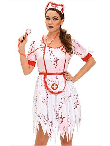 LLU Frauen Sexy Blooded Krankenschwester Doktor Kleid Cosplay -