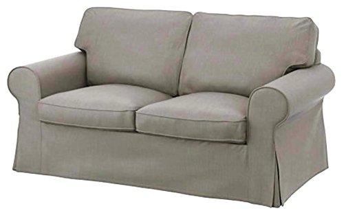 Custom Slipcover Replacement Die Ektorp Zweisitzer-Sofa-Bett-Abdeckung Ersatz ist nach Maß für Ikea Ektorp 2 Seater Sleeper allein, ein qualitativ hochwertiges Sofa Slipcover Ersatz. Dichtes Baumwollhellgrau (Sofa Sleeper)