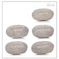 Shruti Sentiment Stone Pebble Rock Garden Decoration Different Designs (Relax & Breathe)
