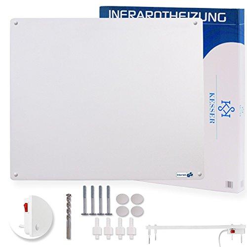 Kesser® Infrarotheizung Wandheizung ✓ Infrarot ✓ Heizung ✓ Heizkörper | Heizpaneel| Inkl.Standfüßen NEU | Modell: 550 Watt