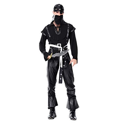 Piraten Cutthroat Kostüm Für Erwachsenen - Baoblaze Herren Damen Piratenkostüm Piraten Seeräuber Kostüm Cosplay Verkleidung für Fasching Karneval Halloween - XXL