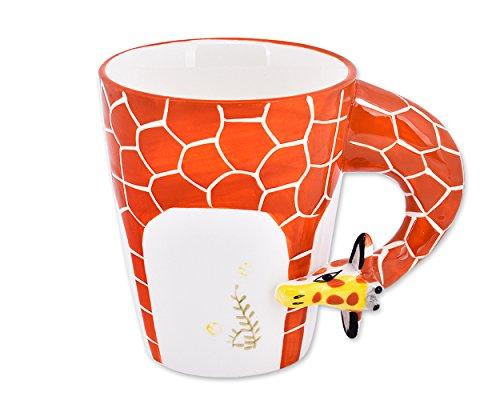 DSstyles Taza de café de Taza de café pura pintada a mano de la jirafa 3D Taza linda del animal