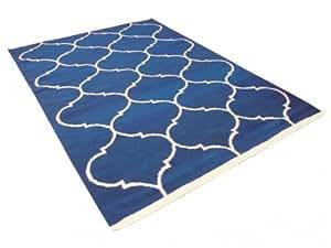 Tapis BANGALORE - 100% Laine tuftée main - 160*230 cm - bleu