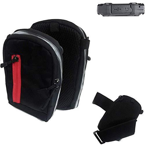 K-S-Trade Outdoor Gürteltasche Umhängetasche für simvalley Mobile SPT-210 schwarz Handytasche Case travelbag Schutzhülle Handyhülle
