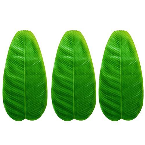 ke mit Bananenblättern, künstliche Blätter, Tischdecke für Hawaiian Luau Dschungel Party Supplies Tischdekoration (grün) ()