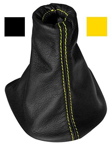 Aerzetix - Schaltsack Schalthebelmanschetten Schalthebelmanschette Schaltbetätigungs Schwarze Farbe 100% gelben Nähten