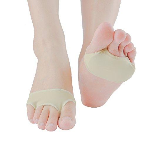 Fußballen Kissen-Welnove Silicone Ballenpolster zur Schmerzlinderung Vorderfuß von Schwielen, Blasen, Mittelfußknochen Beschwerden und Morton-Syndrom(Beige Einlegesohlen Vorfuss S)