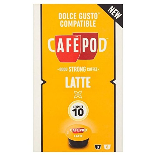 Purchase CafePod Cafe Latte Dolce Gusto Compatible Capsules 8 per pack - CafePod