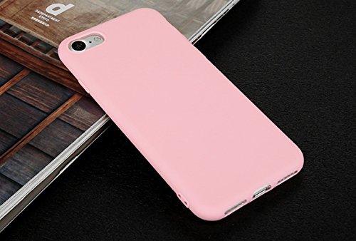Incendemme Handyhülle für iPhone 6/ 6s weiche Dünn Mattglasbirne Schutzschale für iPhone mit Einfarbig Design Handytasche aus TPU Handy Hülle Etui cover case (Rosa) Rosa