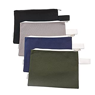 Augbunny 100% Cotton 16oz Heavy Duty Multi-purpose Canvas Zipper Tool Bag Organize Storage Pouch 4-pack