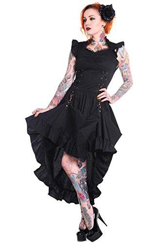 Sobre-un-vestido-negro-con-falda-izado-aristocrate-Banned-diseo-gtico