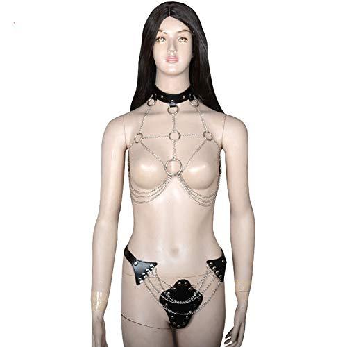 Sexy Bondage Kostüm Stage Korsett Hosen Adult Alternative Toy Leder Weiblich BH Binding Briefs - Korsett Adult Kostüm