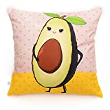 Bojinbaodun 18x18 Zoll (45x45 cm) Fruit Text Dekorative Kissenbezug Sofa Bezug Stuhl Matratze Multi...