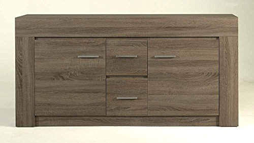 Sideboard in Sonoma Eiche Dunkel-Nachbildung, mit 2 Türen und 2 Schubkästen, Maße: B/H/T ca. 162/80/40 cm