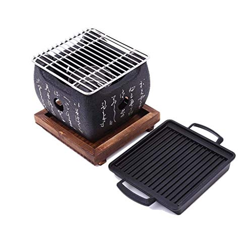 YUFU Parrilla De Carbón De Estilo Japonés, Mini Horno De Carbón De Casa Al Aire Libre Portátil Viajes...