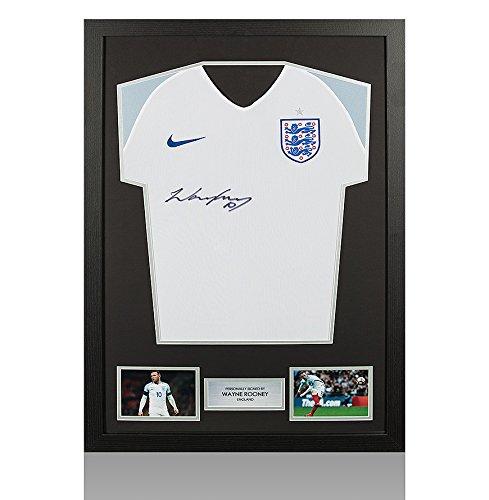 Framed-Wayne-Rooney-Signed-England-Shirt