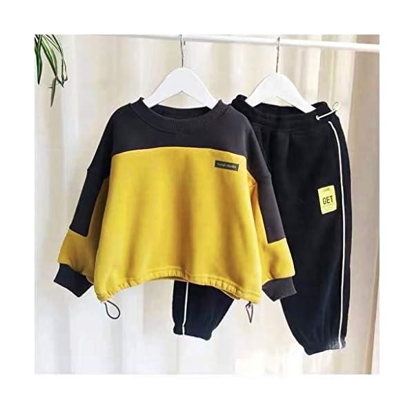 Tefamore Conjuntos Deportivos Ropa Bebé Niño Retazos Letra Camiseta Tops + Pantalones de Rayas Trajes 2