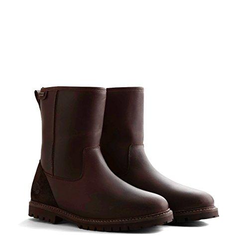 Travelin' Vyborg Outdoor Stiefel Leder Damen/Herren | Wasserdicht & Gefüttert | Bergstiefel Wanderstiefel Outdoorschuhe Winterstiefel Schneestiefel | Braun 40 EU