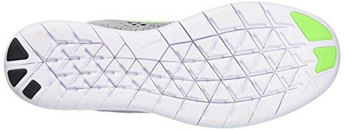Nike Free RN, Scarpe da Corsa Uomo Grigio (Platine/Vert Électrique)