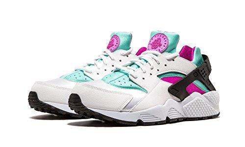 Nike - Air Huarache, Sneaker basse Donna white fuchsia flash artisan teal 104