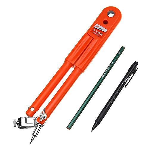 RENCALO Zeichnen Messen Spurweite Kompass Holzbearbeitung Handwerk Design Layout Tool 90 / 150cm Durchmesser-Typ 1