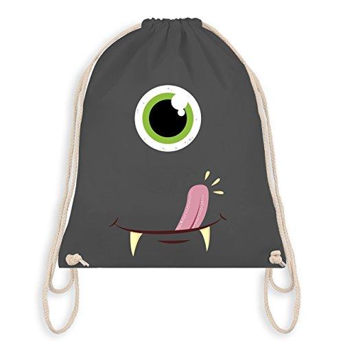 (Karneval & Fasching - Monster Gesicht Kostüm - Unisize - Dunkelgrau - WM110 - Turnbeutel & Gym Bag)