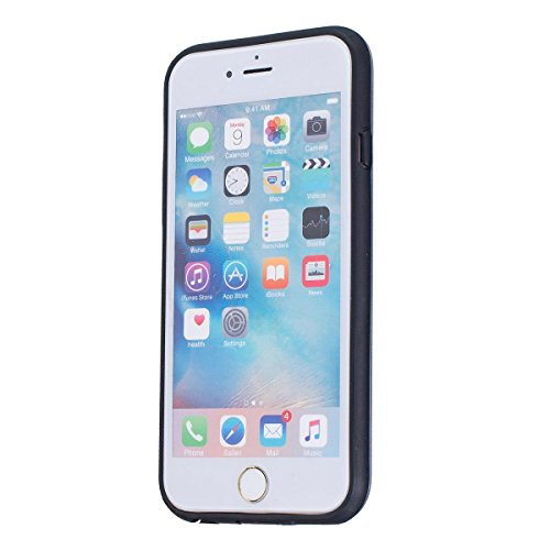 MOONCASE IPhone 6 / 6S Étui, Double Couche Hybride Soft TPU Intérieur + Anti-Dérapant Coque PC Robuste Anti-Scratch Antichoc Housse Etui de Protection Case pour iPhone 6 / 6S (4.7 inch) Argenté Argenté