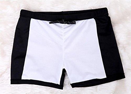 SHISHANG Männer Winkel Badehose neuen großen Badehose schnelltrocknend europäischen und amerikanischen Sonne Kleidung hohe elastische Feder wesentlich Black