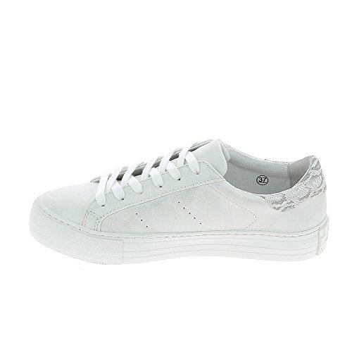 No Name ,  Sneaker donna Bianco