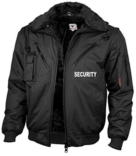"""R&K Dienstbekleidung Dienstblouson / 4-in-1-Dienstjacke """"Four Seasons SECURITY"""", schwarz, bedruckt auf Brust und Rücken mit SECURITY, wasserdicht,Größe M"""