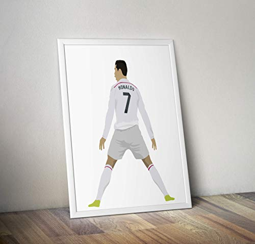 Cristiano Ronaldo inspirierte Poster - Zitat - Alternative Sport/Fußball Prints in verschiedenen Größen (Rahmen nicht im Lieferumfang enthalten)