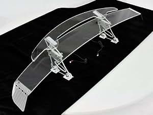 acrylglas heckspoiler universal mit led beleuchtung 7 farben einstellbar auto. Black Bedroom Furniture Sets. Home Design Ideas