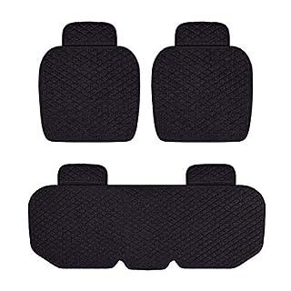 Rubyu 3-teiliges Set Auto Sitzkissen Autositzkissen rutschfest Atmungsaktiv Rücken Kissen Auto Sitzauflagen Auto Sitzbezüge für Auto, Büro- & Rollstuhl Sowie Reisen