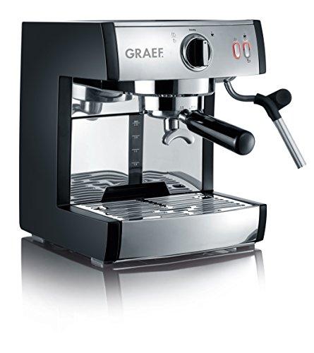 Graef ES702EU Siebträger-Espressomaschine pivalla, 1410 W, 16 Bar, schwarz-matt / edelstahl