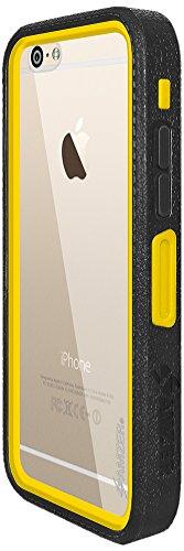 Amzer Crusta edge2edge gehärtetes Glas und Holster Tasche Schutzhülle Case Cover Hülle Schale Für iphone 6, schwarz Black/Yellow /White