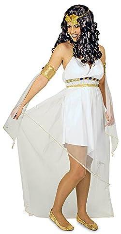 KOSTÜM ATHENE KLEID,ARMSTULPEN + LORBEERKRANZ, Größe:44-46 (Griechische Göttin Kopfschmuck Kostüm)