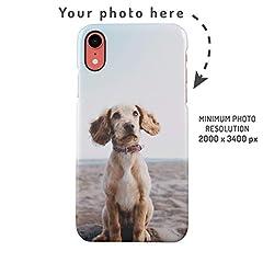 Idea Regalo - Custodia Cellulare con Foto Personalizzata, Crea la Tua Immagine, Crea la Tua Stampa, Personalized Customised Phone Case Custodia Protettiva in Plastica Rigida Cover per iPhone XR