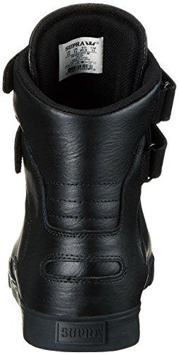 Supra Society Ii, Sneakers Hautes mixte adulte Noir - Schwarz (BLACK / BLACK - RED 077)