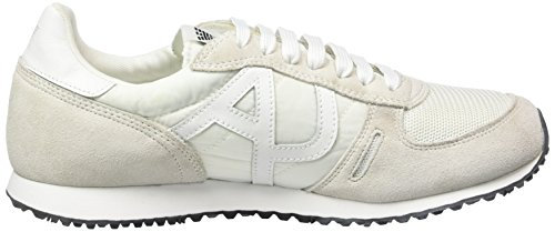 Armani Jeans C652432, Sneakers basses homme Blanc - Weiß (BIANCO - WHITE F1)
