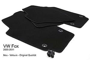 Tapis de sol pour volkswagen fox produit drehknebel anthracite 4 pièces