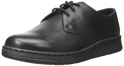 Dr.Martens Mens Cavendish 3-Eyelet Leather Shoes Noir