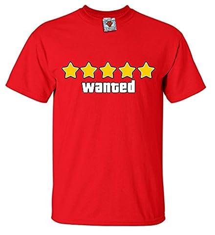Bullshirt's Men's Wanted T-Shirt. (Grand Theft Auto San Andreas Wii)